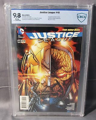 JUSTICE LEAGUE #40 (Grail 1st appearance) CBCS 9.8 NM/MT DC New 52 2015 cgc