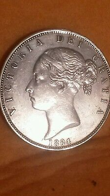 Great Britain 1/2 Crown, 1884 Victoria young head