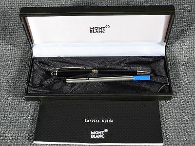 Montblanc Meisterstuck Black Ballpoint Pen with box and service manual