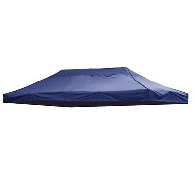 EZ Pop Up Canopy Top Replacement Patio Outdoor Tent For 10x20ft(Navy Cover Only)