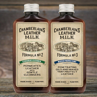 Leather Milk Leather Cleaner Waterproofing Condition Kit Formula No. 2 and No. 3