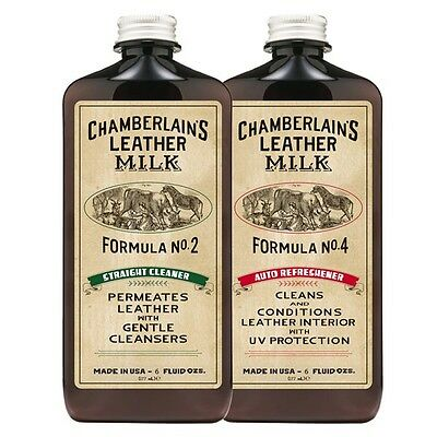 Leather Milk Auto Leather Cleaner and Conditioner Kit Formula No. 2 and No. 4