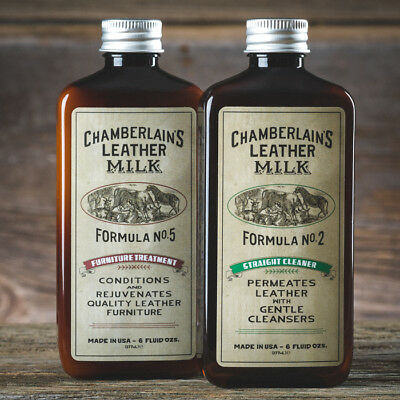 Leather Milk Furniture Leather Cleaner Conditioner Kit Formula No. 2 and No. 5
