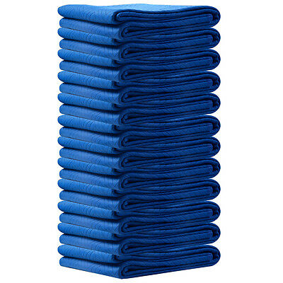 """60LBS Moving Blankets 12 PC  72"""" x 80"""" Blanket Padded Furniture Pads Protection"""