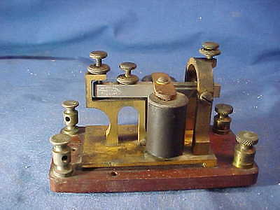 Orig 19thc WESTERN UNION Telegraph SOUNDER by Manhattan Supply Co