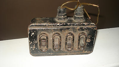 Vintage Industrial 4 Gang Light/Electrical Switch