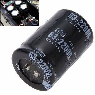 Dimension 35x50mm Cylindrical 63V 22000UF Aluminum Electrolytic Capacitor 105°C