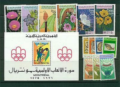 Libya MNH sets and s/s CV $24.35
