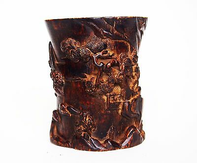 A Nice Carved Eaglewood/Chenxiangmu Brush Pot, 18th-19th Century