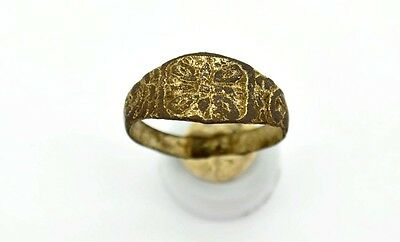 Medieval Viking Period Ring with runic simbol