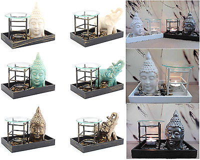 Buddha Zen Candle Wax Melt Tart Warmer Oil Burner Tealight Holder Elephant New