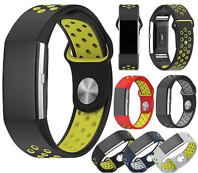 Sport Silicone Replacement Band Strap Wristband Bracelet F Fitbit Charge 2 /2 HR