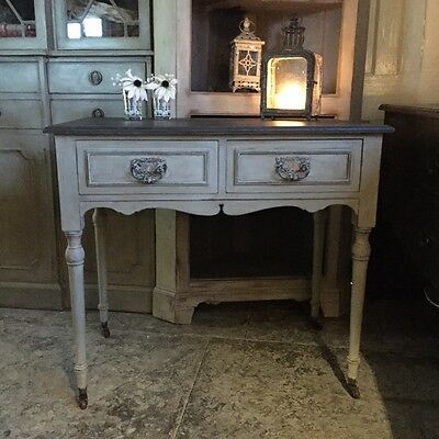 Grey Antique Victorian/Edwardian Country Ladies Writing Desk Dressing Table