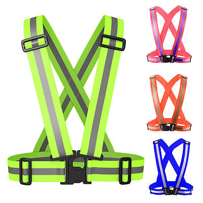Reflective Safety Vest Lightweight and Adjustable for Running Cycling Motorcycle