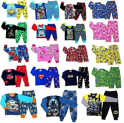 New 1-16 Kids Pyjamas Winter Boys Girl's Sleepwear Nightie Tee Pokemon Go Pj Pjs