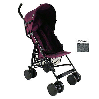 New Red Kite Push Me 2 U Stroller Baby Buggy Lightweight Pushchair Plum