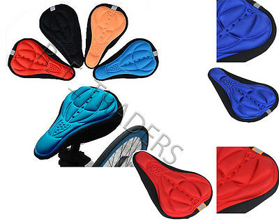 3D Durable Silicon Gel Pad Bicycle Cycling Saddle Soft Comfort Seat Cover Track