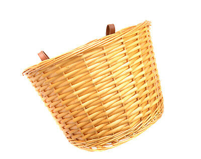 Vintage Wicker Bike Basket Brown Adjustable Straps Bicycle/Cycle/Shopping