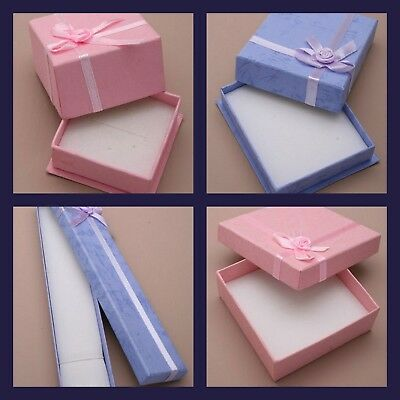 Blue Pink Jewellery Gift Box Ring Necklace Bracelet Earrings Small Present New