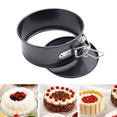 4 Inch Round Baking Mould Pizza Cake Shallow Non Stick Pan Pie Dish Tray