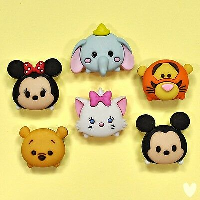 DISNEY Tsum Tsum 9085 Dress It Up Buttons - Mickey Mouse Winnie Pooh Cat Dumbo