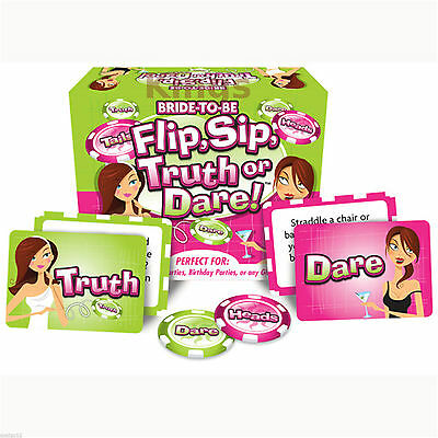 Bride To Be Flip Sip Truth Or Dare Drinking Game Wedding Hen Night Parties