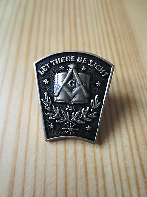 Masonic Lapel Pins Badge Mason Freemason B33 Antique Bronze LET THERE BE LIGHT