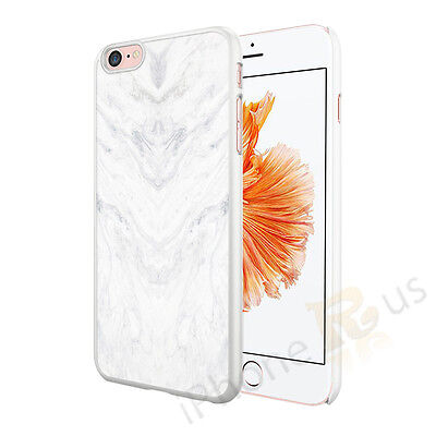 Granite Marble Contrast Color Hard Phone Cover Case For Mobiles White Grey Swirl