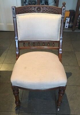 6 Antique Victorian Dining Chairs, Vintage