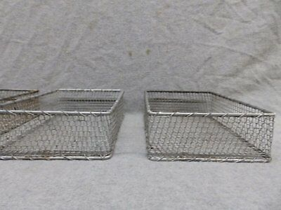 One Vintage Small Industrial Wire Basket Organizer Tray Jewelry Factory 427-17R