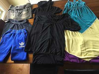 Lot of 6 pcs clothing, size M, Adidas, Charlotte Russe, Rue 21, skirts, dresses