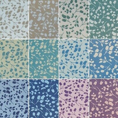 100% Cotton Fabric By Fabric Freedom Spring Silhouette Flower Floral Blender