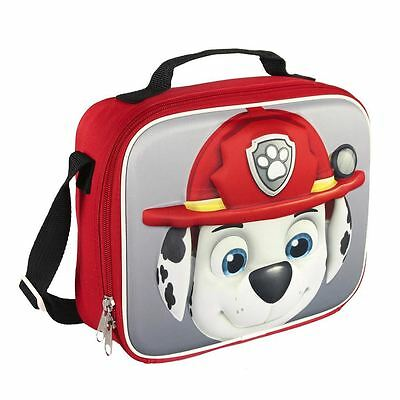 Paw Patrol Children Kids Marshall 3D Effect Insulated Red Lunch Bag