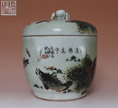 Fine Chinese Famille Rose Porcelain Pot Bi Shan Marked (L538)