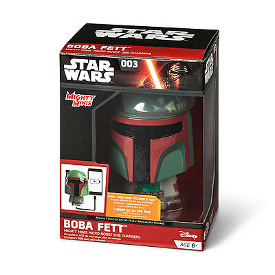 Star Wars Boba Fett Mighty Minis Micro-Boost USB Charger *NEW*