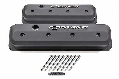 Proform SB Chevy 1987-2002 Slant-Edge Black Crinkle Valve Covers 141-840