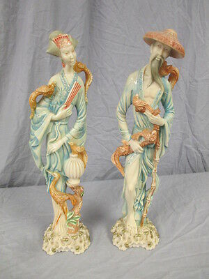 "Lot of 2 Norleans ""Made in Italy"" Asian-Inspired Art/Figurines"