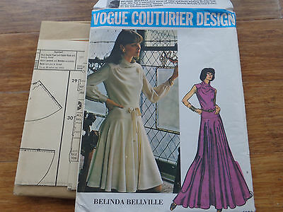 VOGUE COUTURIER BELINDA BELLVILLE Misses Sewing Pattern 1102 Dress Gown SZ 10