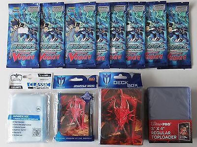 Cardfight Vanguard Bundle 8 Champions of the Cosmos Boosters Sleeves Toploaders