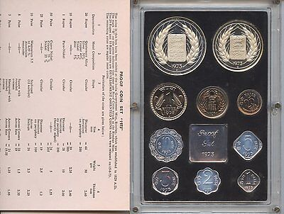 India 1973 Silver Proof Coin Set