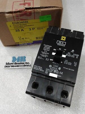 EGB34035 Square D SQD Type EGB Circuit Breaker 3 Pole 35 Amp 480V (New)