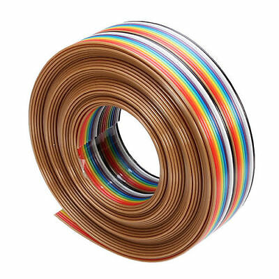 5M 1.27mm 20P DuPont Cable Rainbow Flat Line Support Wire Soldered