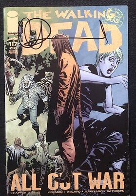 Image Comics The Walking Dead #117 2Nd Print Signed By Charlie Adlard