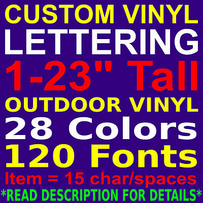 CUSTOM VINYL LETTERING. PERSONALIZED Car Truck Window Wall Sign Decal Sticker