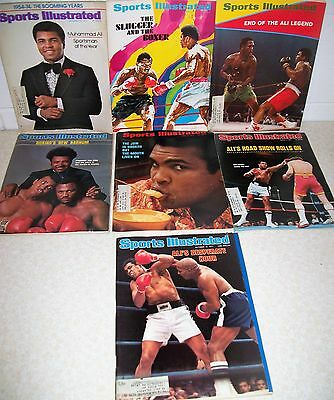 Lot of 7 Mags - Sports Illustrated Muhammed Ali Issues - 1971 through 1977