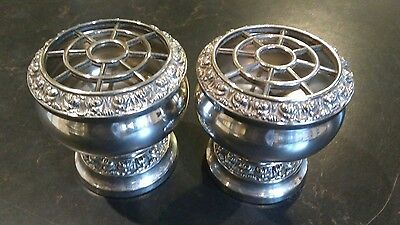 A Vintage Pair Of Ianthe Silver Plated Rose Bowls