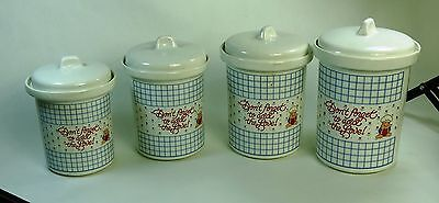 "Vintage Ziggy "" Don't Forget to Add The Love ! "" Kitchen Ceramic Jar Set of 4"