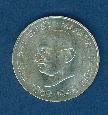 1969 India 10 Rupees Gandhi 1869-1948 very nice condition
