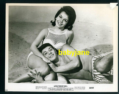 Annette Funicello Frankie Avalon Vintage 8X10 Photo 1964 Muscle Beach Party