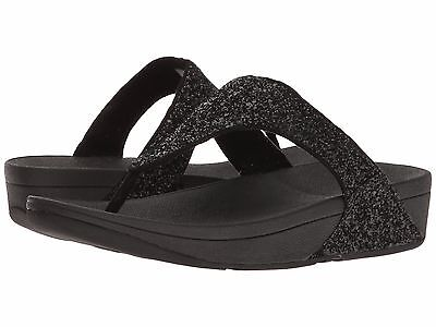 41899cc6798 Women s Shoes Fitflop Glitterball Toe Post Sandals H25-001 Black  New